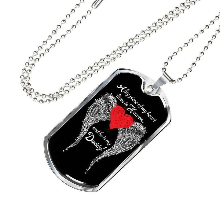 Daddy - A Big Piece of my Heart Engravable Luxury Dog Tag
