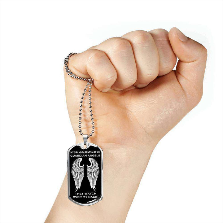 My Grandparents are my Guardian Angels Luxury Dog Tag