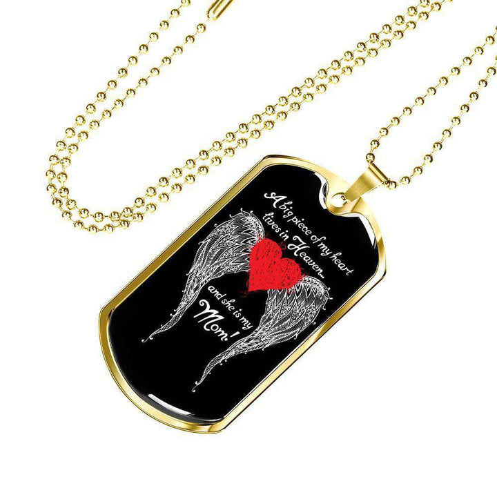 Mom - A Big Piece of my Heart Engravable Luxury Dog Tag