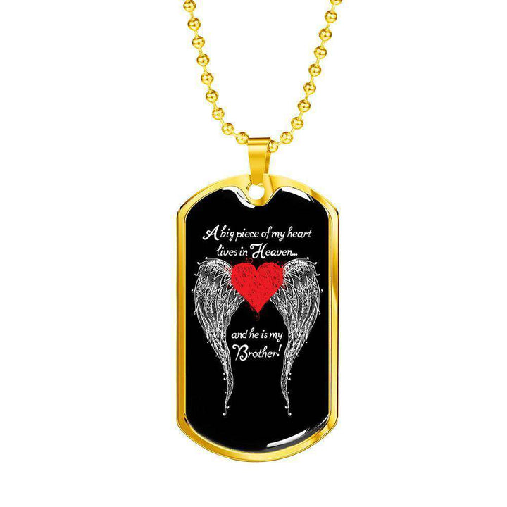 Brother - A Big Piece of my Heart Engravable Luxury Dog Tag