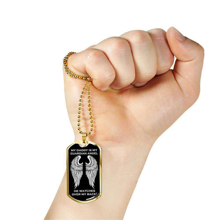 My Daddy is my Guardian Angel Luxury Dog Tag