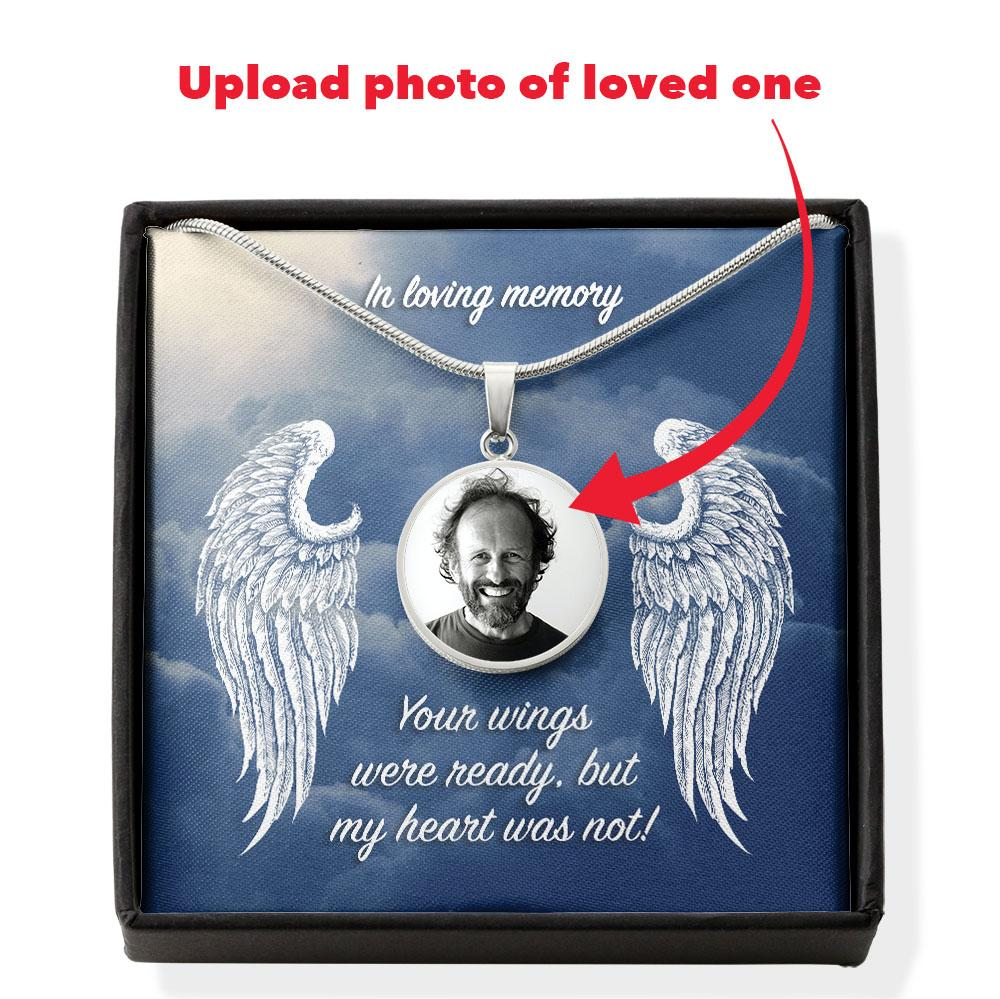 In Loving Memory Photo Engravable Necklace