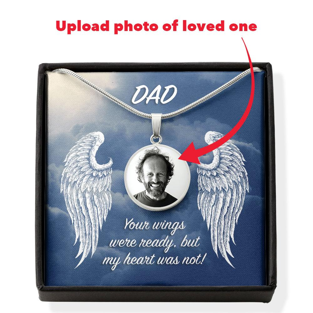 Dad - Your Wings Were Ready Photo Necklace