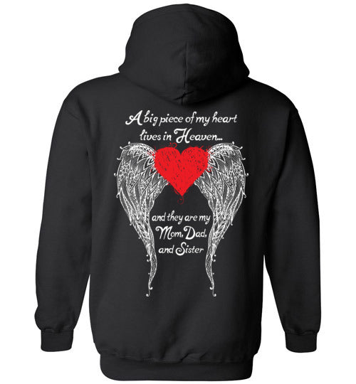 Mom Dad Sister - A Big Piece Hoodie
