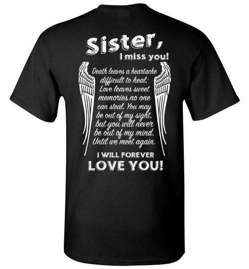 Sister I Miss You Unisex T-Shirt - Guardian Angel Collection