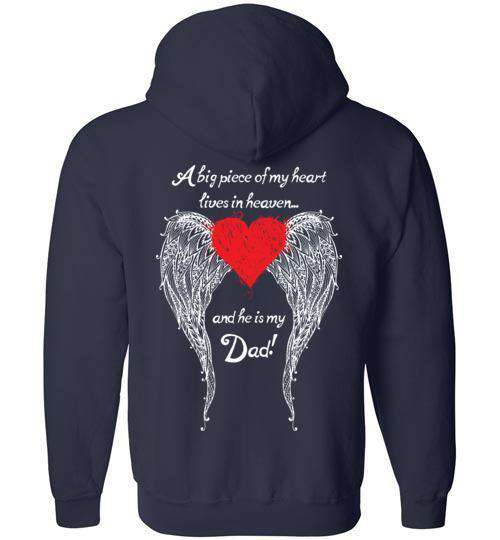 Dad - A Big Piece of my Heart FULL ZIP Hoodie