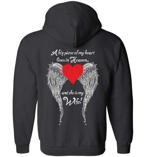 Wife - A Big Piece of my Heart FULL ZIP Hoodie