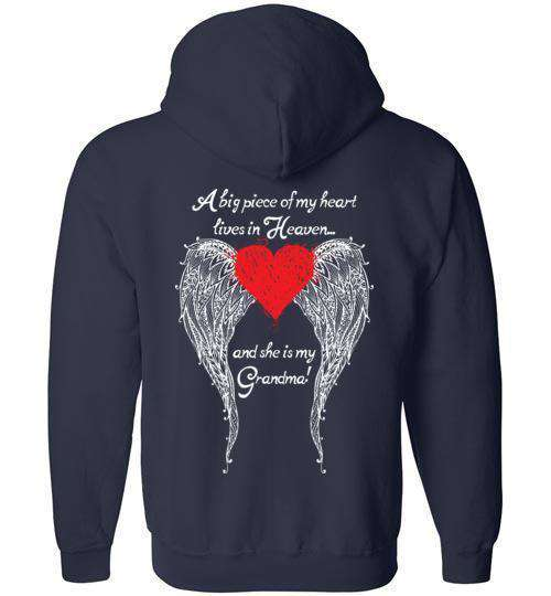 Grandma - A Big Piece of my Heart FULL ZIP Hoodie