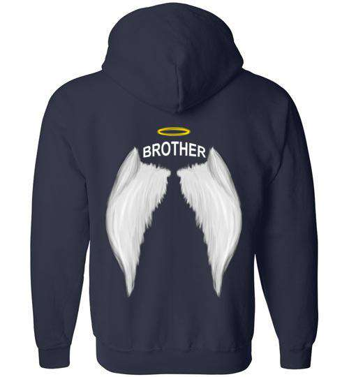 Brother - Halo Wings FULL ZIP Hoodie