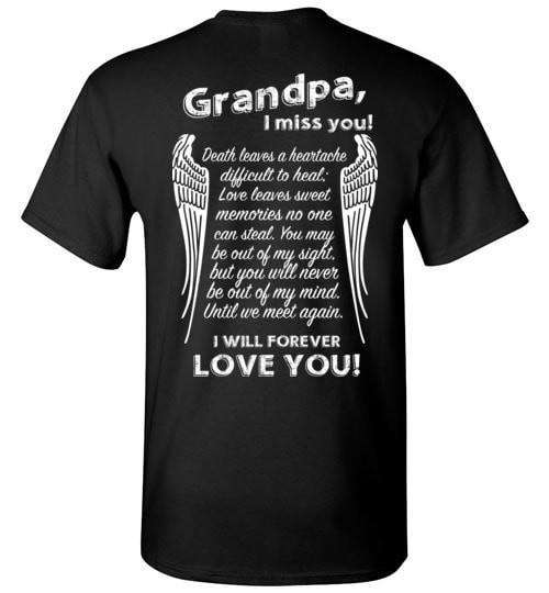 Grandpa I Miss You Unisex T-Shirt - Guardian Angel Collection
