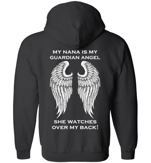 YOUTH: My Nana is My Guardian Angel Full Zip Hoodie