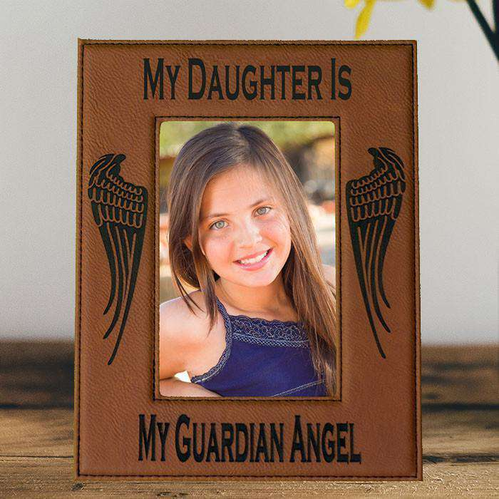 My Daughter is My Guardian Angel Laser Engraved Picture Frame ...