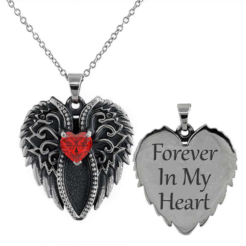 Forever In My Heart - Premium .925 Silver Birthstone Necklace