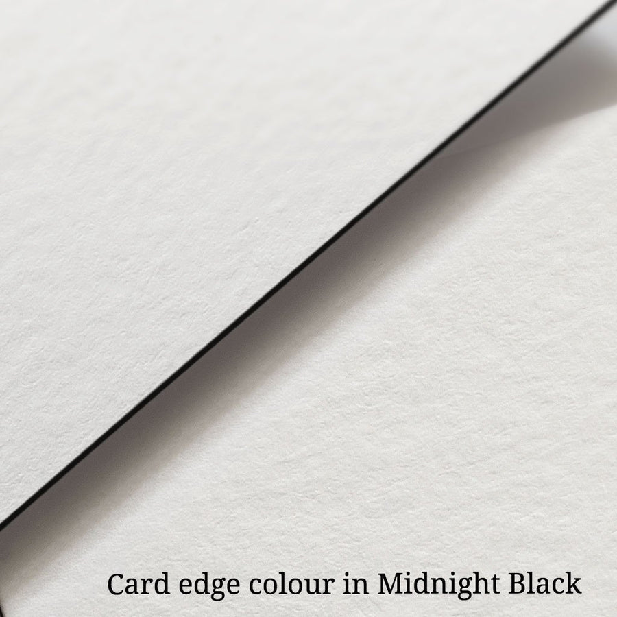 Edge colour. Custom personal letterpress card. Pressed business card