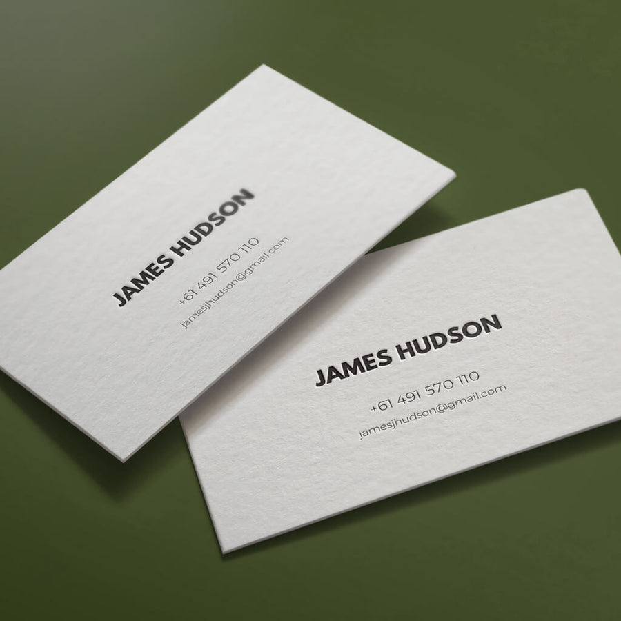 The Suave personal letterpress card. Custom personal letterpress card. Pressed business card