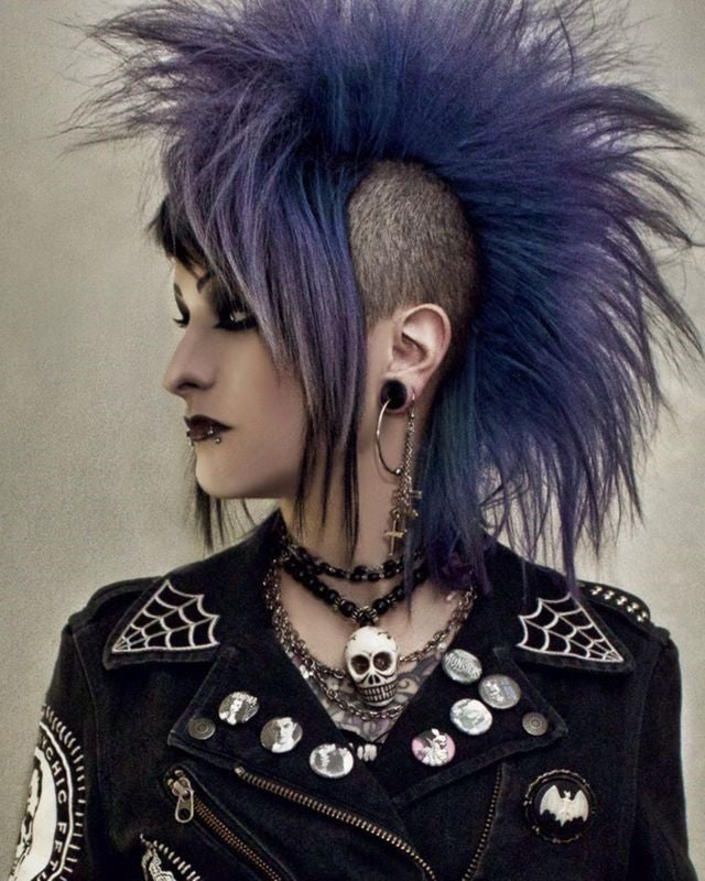 Hair Color Evolution : The rest of the world vs. Goth
