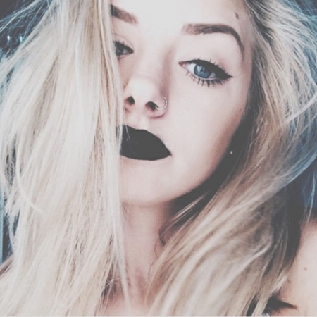 Challenge: how many looks a single black lipstick can create?