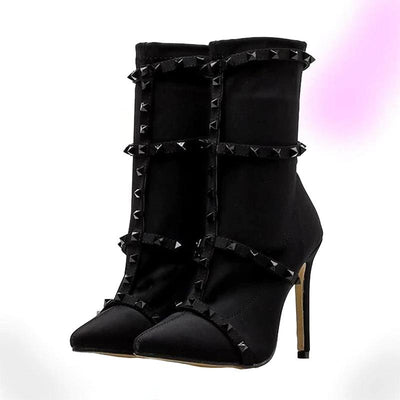 Sexy Rivet Cage Boots