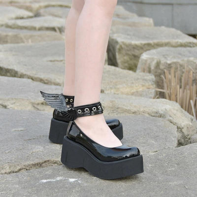 Lolita Black Wing Shoes