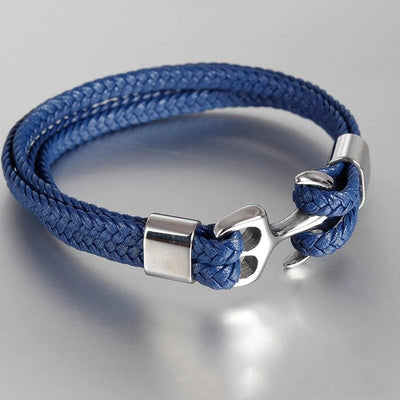 Anchorman Leather Bracelet