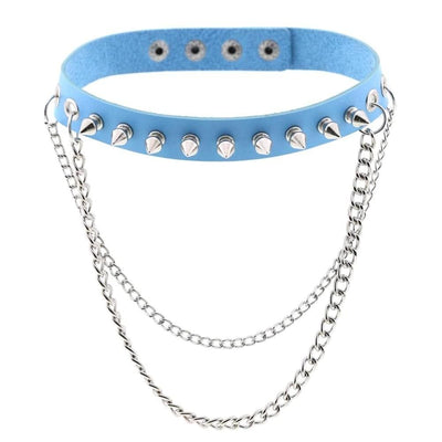 Emo Punk Chained Choker