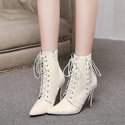 Bewitching Lace Up Boots