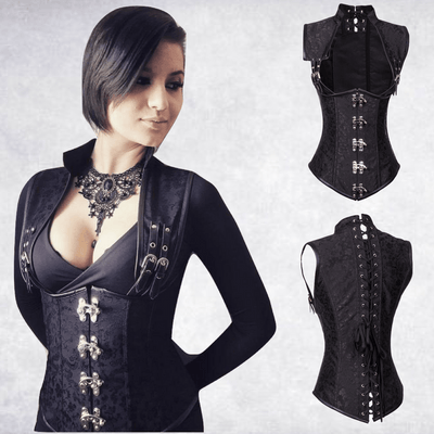 Steel Boned Gothic (Waist Trimmer) Corset