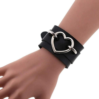 Gothic Locked Heart Bracelet