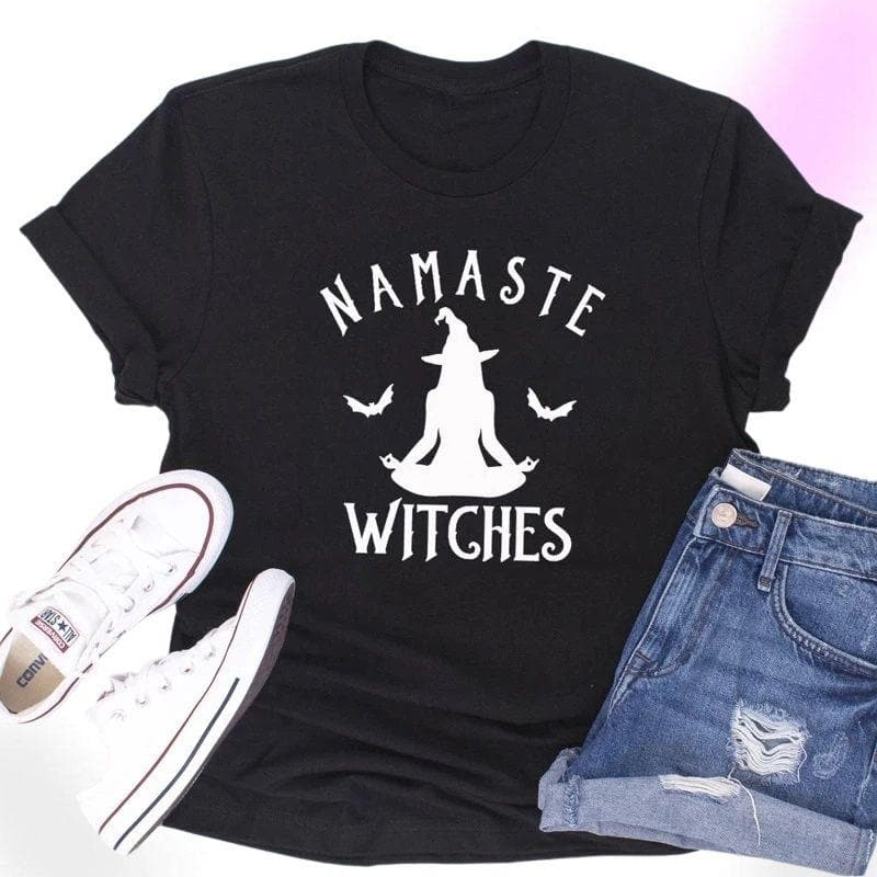 Namaste Witches Cotton Gothic Shirt