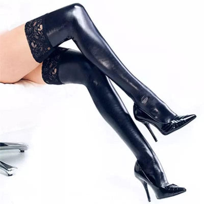 Blackout Leather Stockings