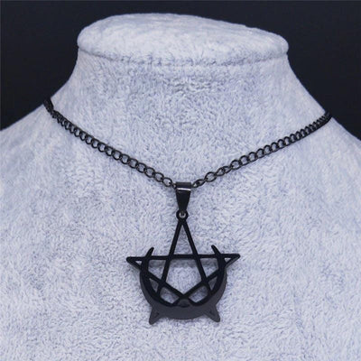 Moon Pentagram Gothic Necklace