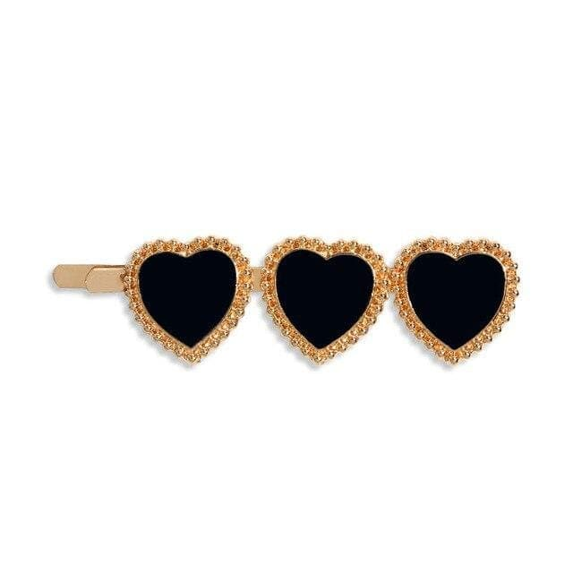 Sweet Heart Hair Clips