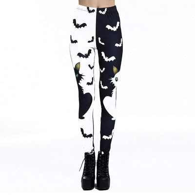 B&W Batty  Leggings