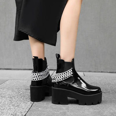 Exclusive Gothic Punk Chain Boots