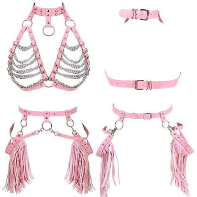 Exotic Chained Bra Harness