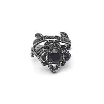 Charmed Gothic Flower Ring