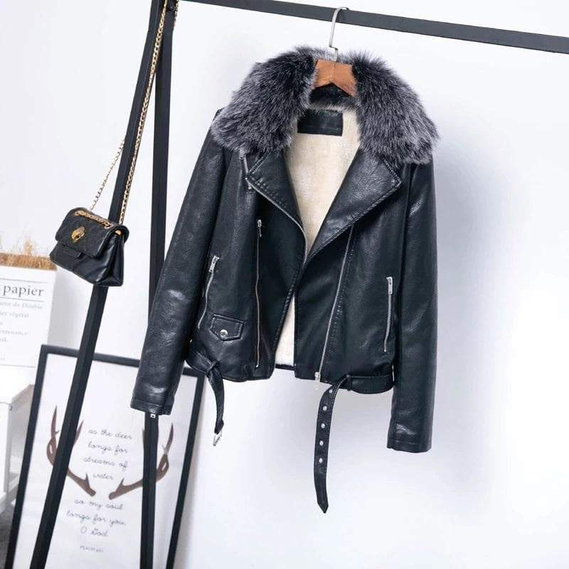 Faux Leather Winter Gothic Coat