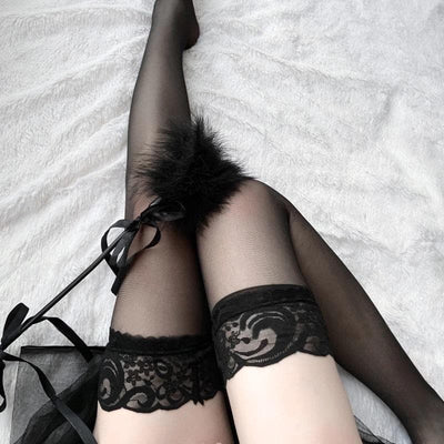 Pure Sincerity Bow Stockings