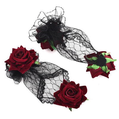 Lolita Rose Gothic Gloves