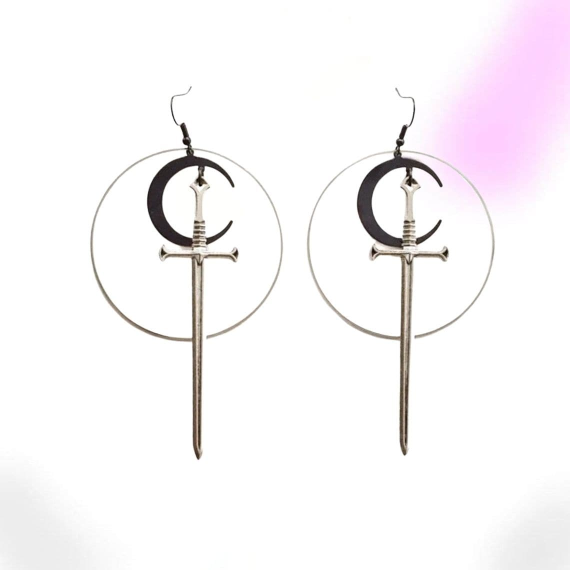 Heavenly Witch Sword and Moon Earrings