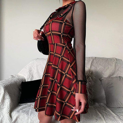 Tartan Checkered Plaid Dress