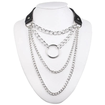 Gothic Chain Choker Necklace