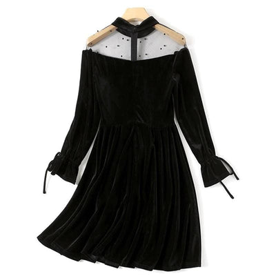 Refined Black Lolita Dress