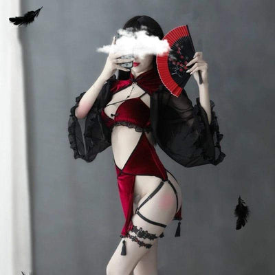 Red Retro Enchantress Lingerie
