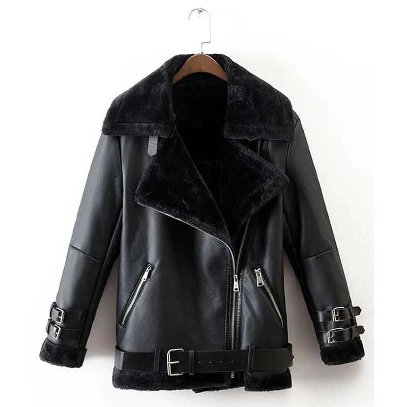 Faux Leather Vintage Jacket