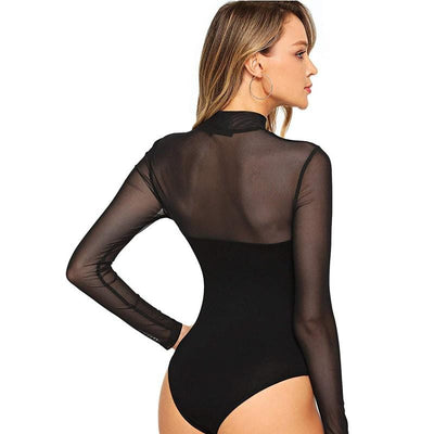 Missguided Black Sexy Bodysuit