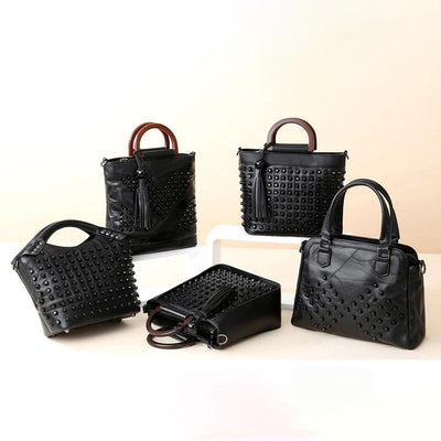 Ladies Black Rivet Bag