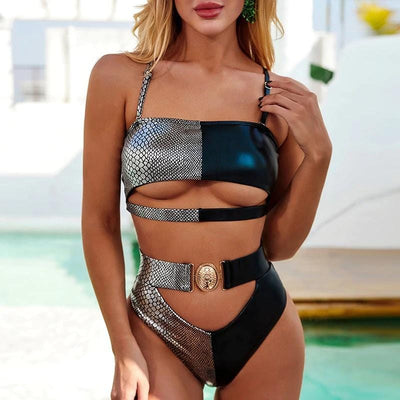 Hollow Belt Swimsuit