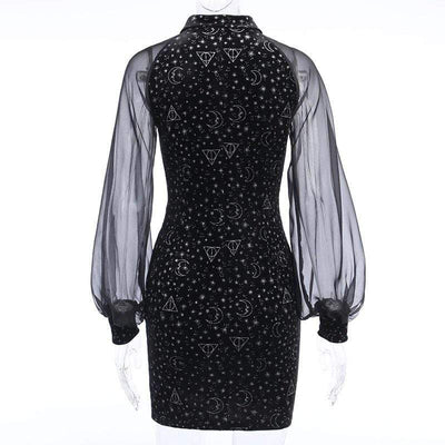 Dazzling Midnight Gothic Dress