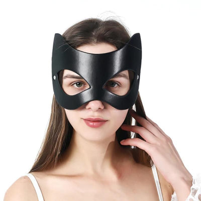 Purrfect Leather Mask